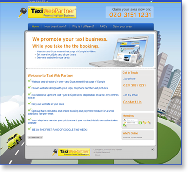 Taxi Web Partner - Taxi websites for hire